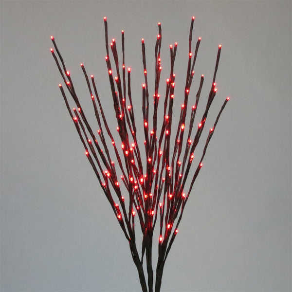 Holiday Bright LED-LBRST140-RD Christmas Staked LED 140 Red Light Burst, 36""