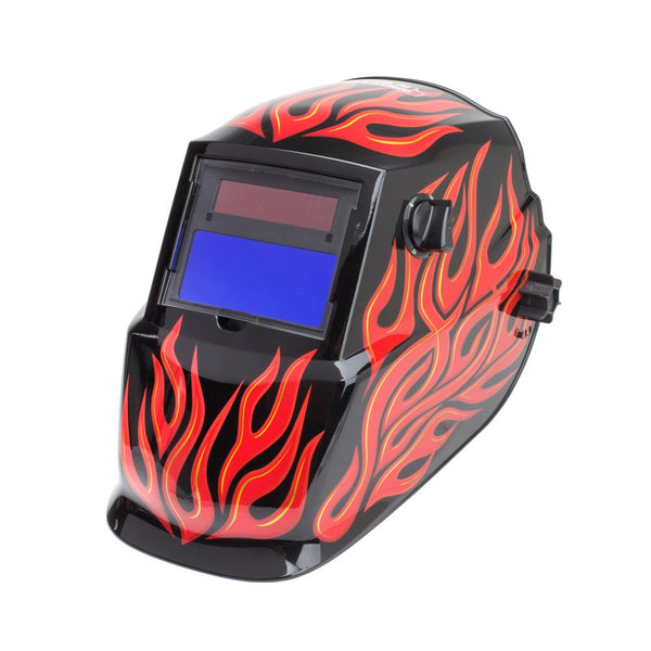 Lincoln Electric K3446-1 Red Steel Auto Darkening Welding Helmet, Variable Shade 9-13