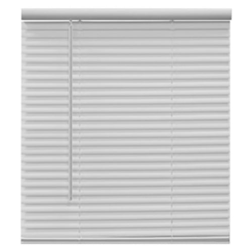 "Homepointe 7164LFC Cordless PVC Light Filtering Mini Blind, White, 71"" x 64"""