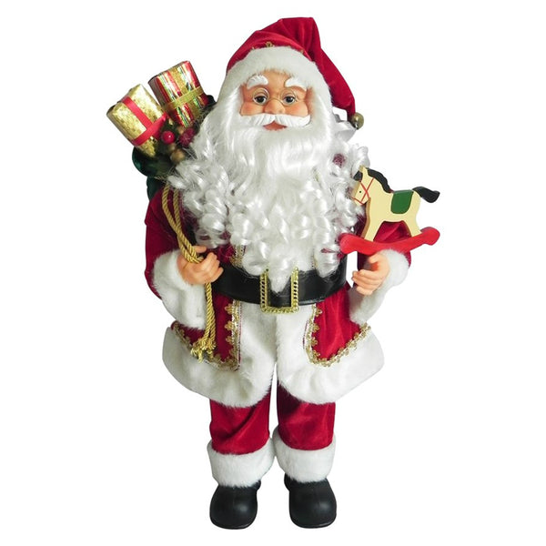 Santas Forest 49341 Traditional Santa Figurine, 24""