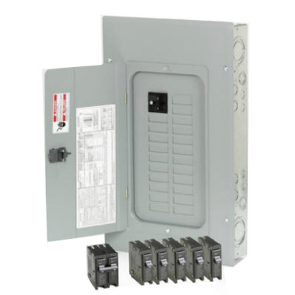 Eaton BRP20B100V25 Main Breaker Installed Plug On Neutral Load Center, 100A