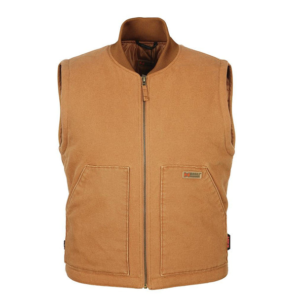 Mobile Warming MW18M14-16-05 Bluetooth Mens Foreman Heated Vest, 12V, Tan, XL