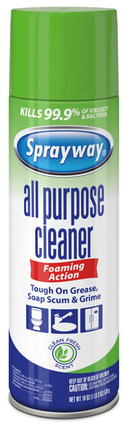 Sprayway SW5002R Foaming Action All Purpose Cleaner, Clean Fresh Scent, 19 Oz