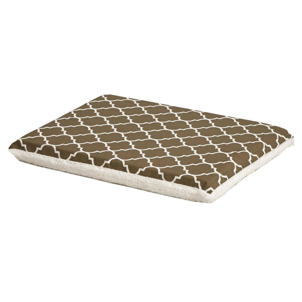 MidWest 40748T-FBR Defender Teflon/Fleece Reversible Crate Pad, Brown Geo, 48""