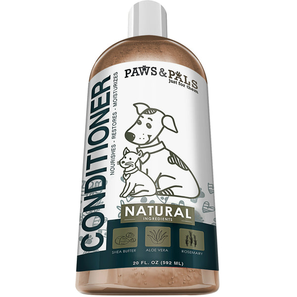 Paws & Pals PTNC-01-20 Natural Pet Wash Conditioner, 20 Oz
