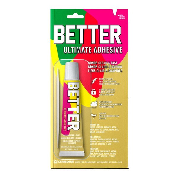 Better AX-211 Ultimate Clear Fast Dry Adhesive, 0.67 Oz