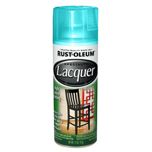 Rust-Oleum 330522 Specialty Lacquer Spray, Gloss Turquoise, 11 Oz