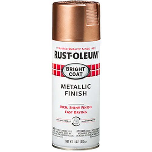 Rust-Oleum 344733 Stops Rust Bright Coat Metallic Finish Spray Paint 11 Oz, Rose Gold