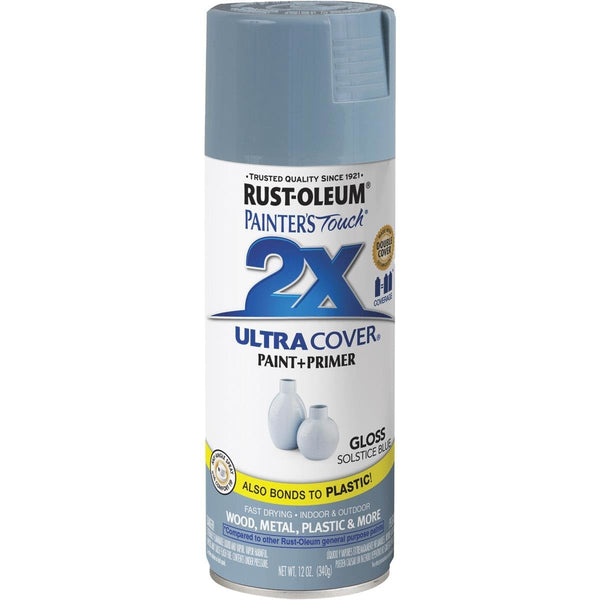Rust-Oleum 342060 Painters Touch 2X Ultra Cover Spray 12 Oz, Gloss Solstice Blue