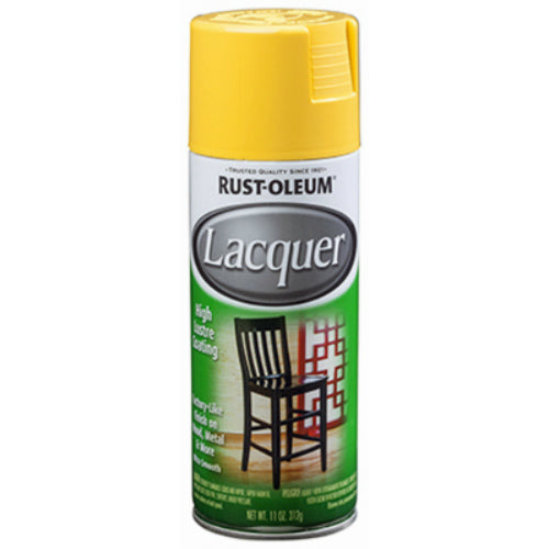 Rust-Oleum 330524 Specialty Lacquer Spray, Gloss Yellow, 11 Oz