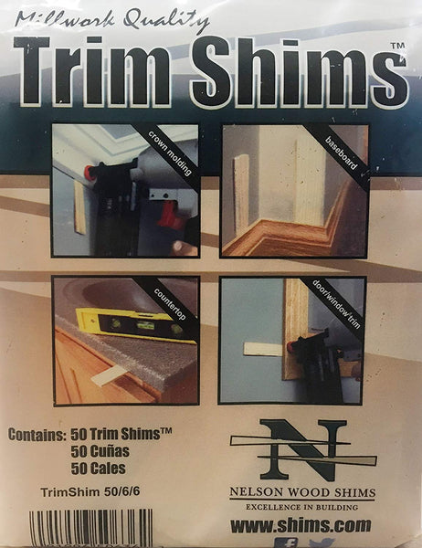 "Nelson Wood TRIMSHIM50/6/6/40 100% Kiln Dried Wood Trim Shim, 3.5"", 50-Count"