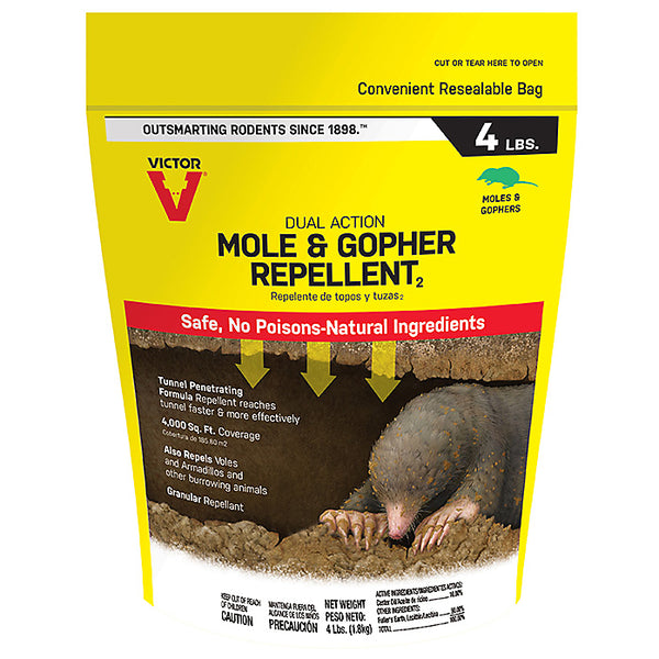 Victor M7001-1 Dual-Action Mole & Gopher Repellent, 4 Lb