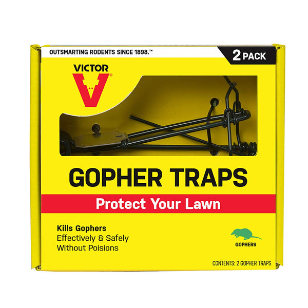 Victor M9013 Pincher-Style Reusable Gopher Traps, 2-Pack