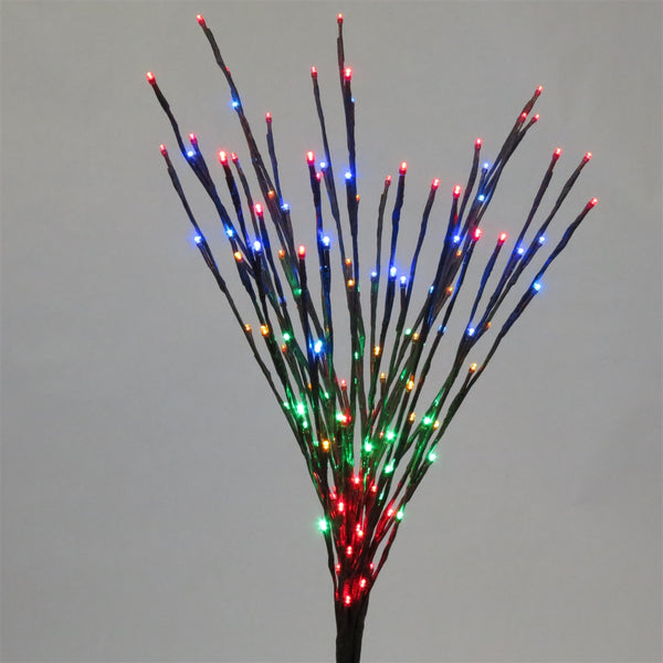 Holiday Bright LED-LBRST140-WW Christmas Staked LED 140 Multi Light Burst, 36""