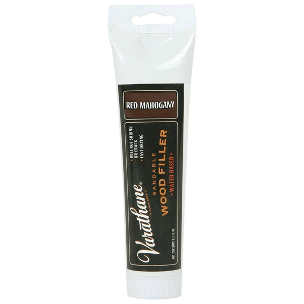 Varathane 215212 Water-Based Sandable Wood Filler, 3.5 Oz, Red Mahogany