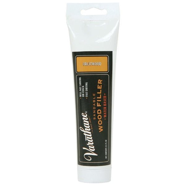 Varathane 215199 Water-Based Sandable Wood Filler, 3.5 Oz, Fruitwood