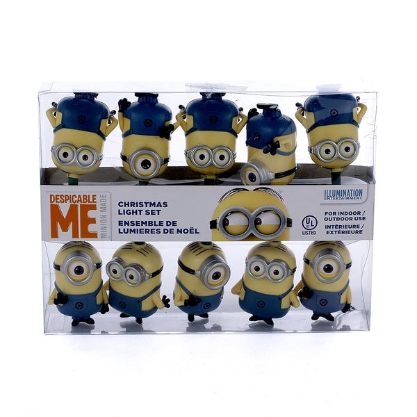 Kurt Adler DE9141 Despicable Me Minions Christmas 10-Light Set, 12'