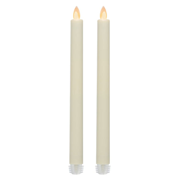 "Inglow NIFT11779CR2 iFlicker Flameless Warm White LED Taper Candle, 9"", 2-Pack"
