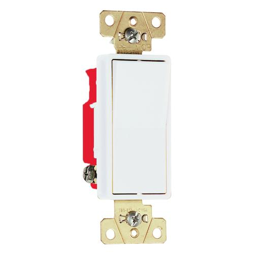 Legrand 2621WCC8 Back & Side Wire 1-Pole Decorator Switch, White, 20A, 120/277V