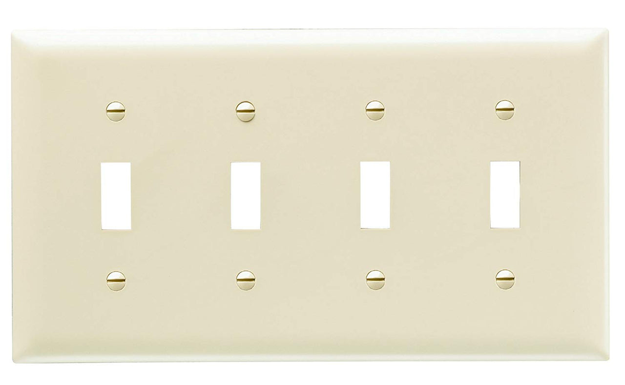 Legrand Tp4icc10 Trademaster 4 Gang Toggle Switch Openings Wall Plate Toolboxsupply Com