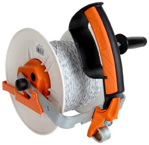 Gallagher G61156 Pre-Wound Geared Reel with 1312' White Turbo Wire