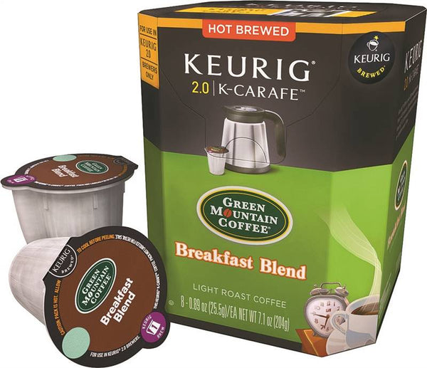 Keurig 4600 Green Mountain Breakfast Blend Light Roast Coffee K-Cups, 8-Count