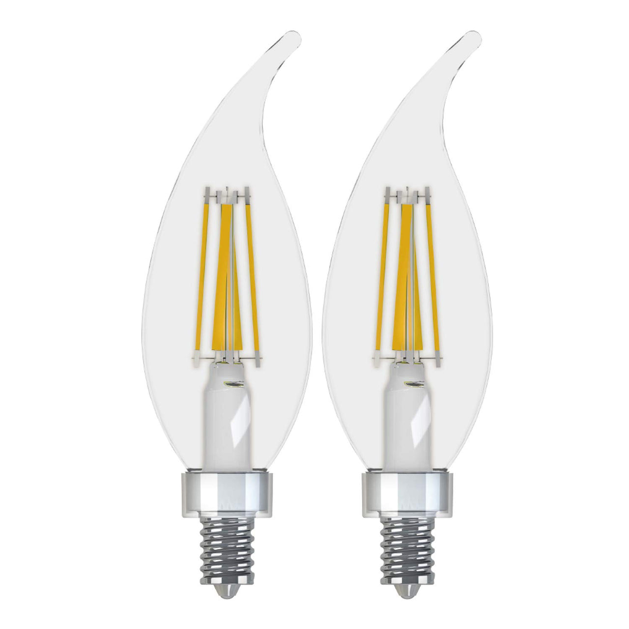 GE Relax 2-Pack 40 W Equivalent Dimmable Warm White A15 LED Light Fixture Light Bulbs Candelabra