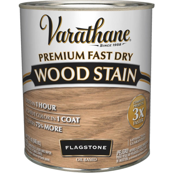 Varathane 347262 Oil-Based Premium Fast Dry Wood Stain, Flagstone, 1 Qt
