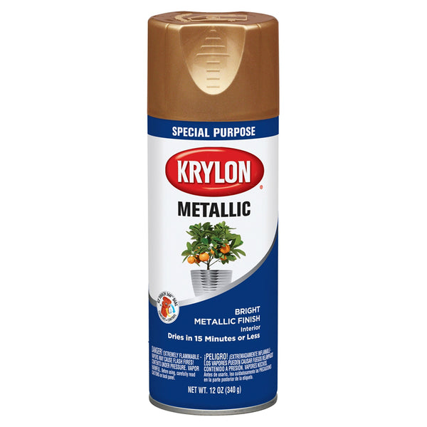 Krylon K01709777 Metallic Spray Paint, Copper, 12 Oz