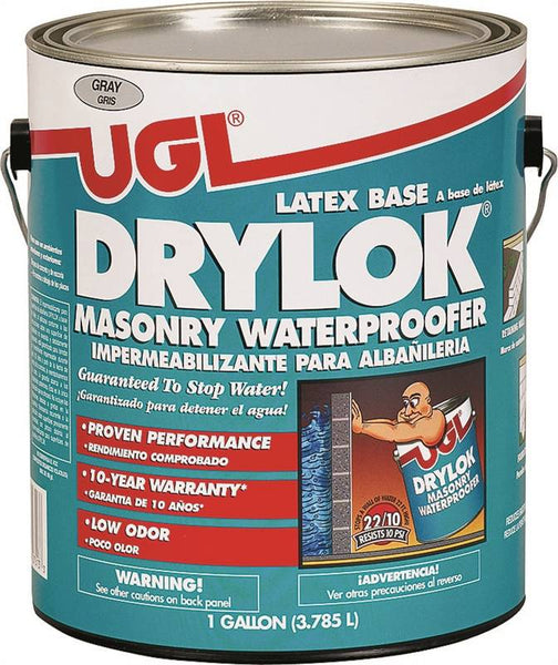 Drylok 27613 Latex Base Masonry Waterproofer, Gray, 1-Gallon