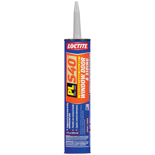 Loctite 1618176 PL S40 Window, Door & Siding Polyurethane Sealant, Gray, 10 Oz