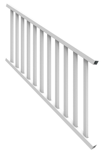 Xpanse 73024862 Select Series Stair Kit with Square Balusters, White, 6' x 36""