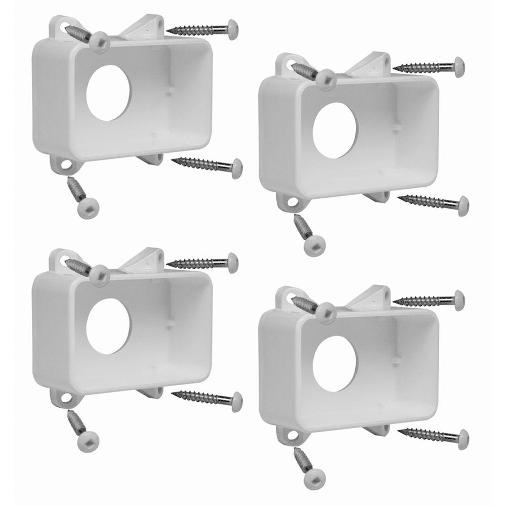Xpanse 73012488 Select Series Vinyl Rail Brackets, White, 4-Count