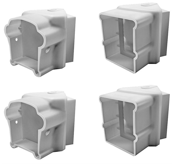 Xpanse 73012498 Premier Series Left/Right Angle Bracket, White, 4-Count