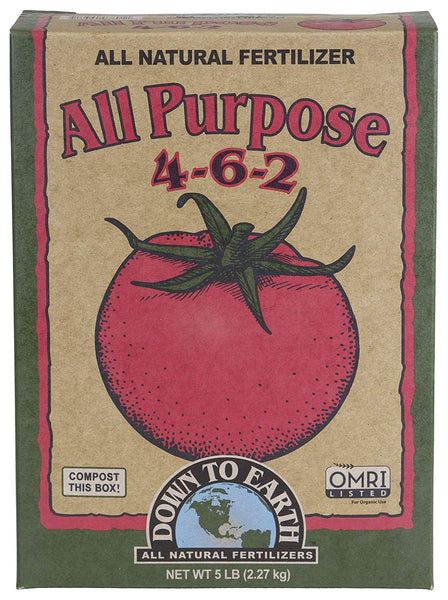 Down To Earth 07806 All Purpose Fertilizer Mix, 4-6-2, 5 Lbs