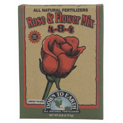 Down To Earth 07820 Rose & Flower Mix All Natural Fertilizer, 4-8-4, 5 Lb