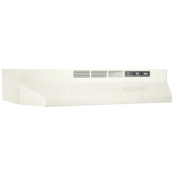 Broan 412402 Non-Ducted Under-Cabinet Range Hood with Light, Bisque, 24""