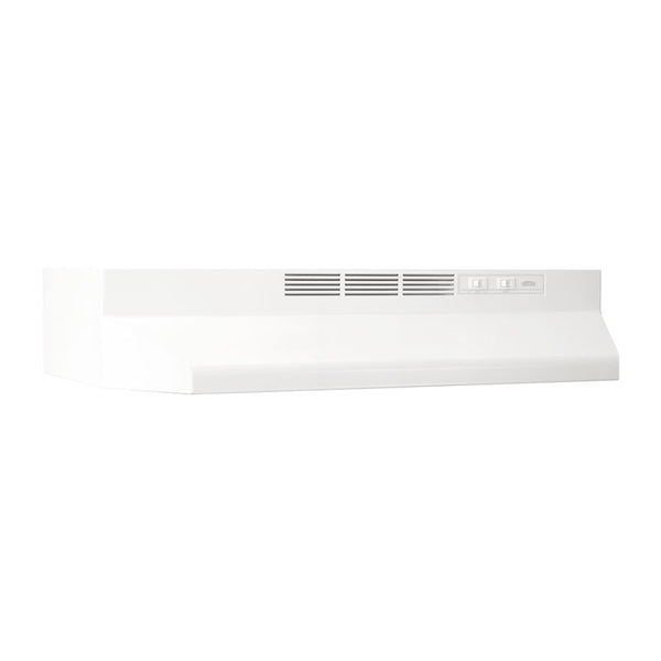 Broan 402401 Ducted Under Cabinet Range Hood with Light, White, 160 CFM, 24""