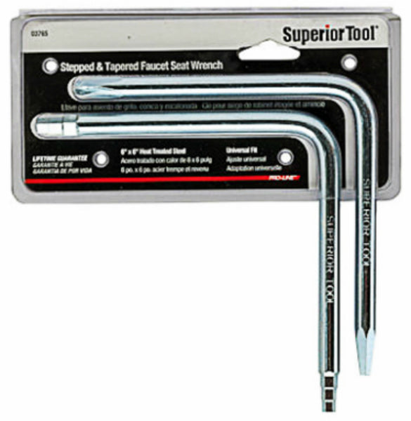 Superior Tool 03765 Universal Stepped & Tapered Faucet Seat Wrench Set, 2-Piece