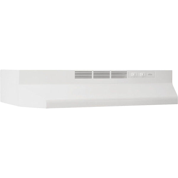 Broan 412401 Non-Ducted Under-Cabinet Range Hood with Light, White, 24""