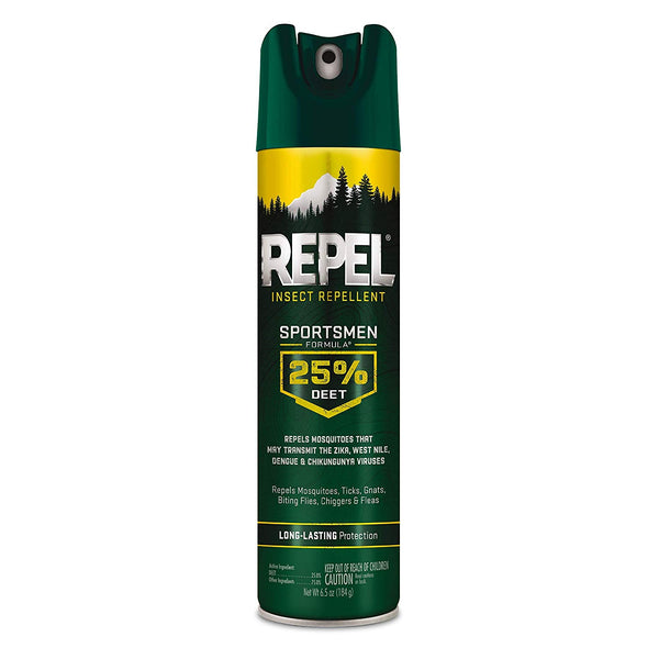 Repel HG-94137 Insect Repellent Sportsmen Formula 25% DEET Aerosol, 6.5 Oz