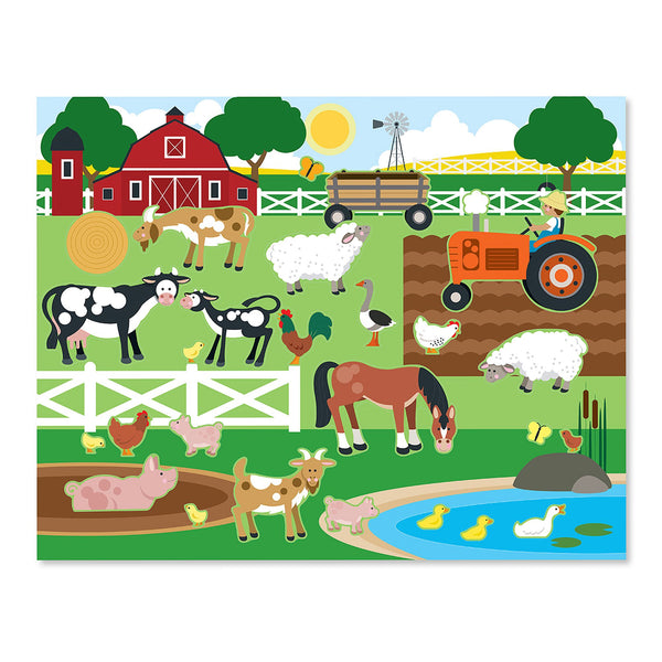 Melissa & Doug 4196 Reusable Habitats Sticker Pad, 3+ Years