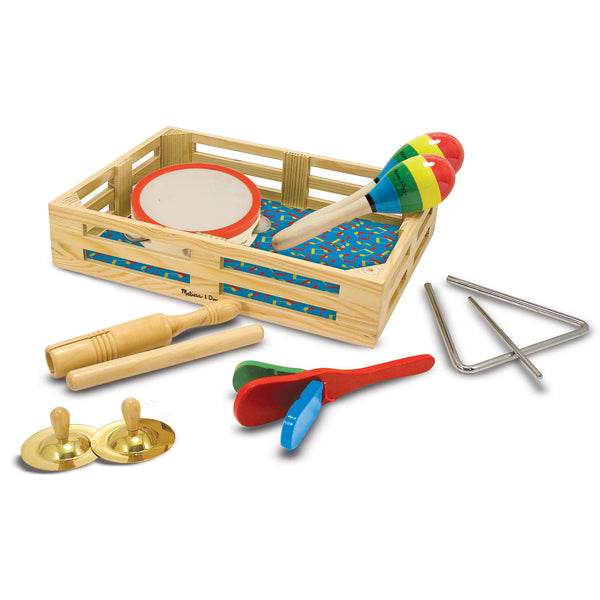 Melissa & Doug 488 Band-in-a-Box Clap-Clang-Tap Sets, 3+ Years, 10-Piece