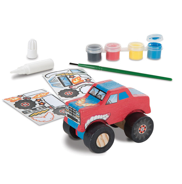 Melissa & Doug 9524 Created by Me! Monster Truck Wooden Craft Kit, Age 4+