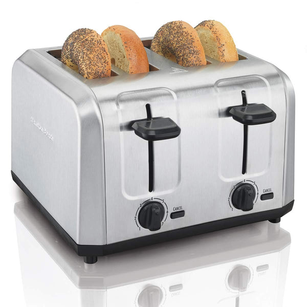 Hamilton Beach 24910 Brushed Stainless Steel Toaster, 4-Slice