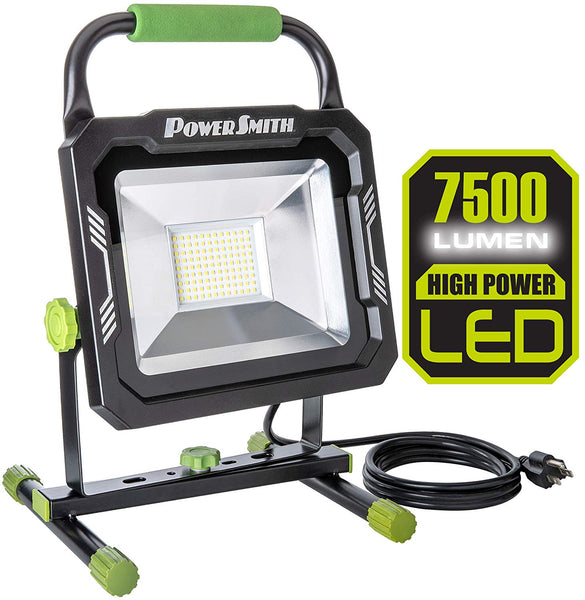 PowerSmith PWL175S LED Work Light with Metal Base, 7500 Lumens