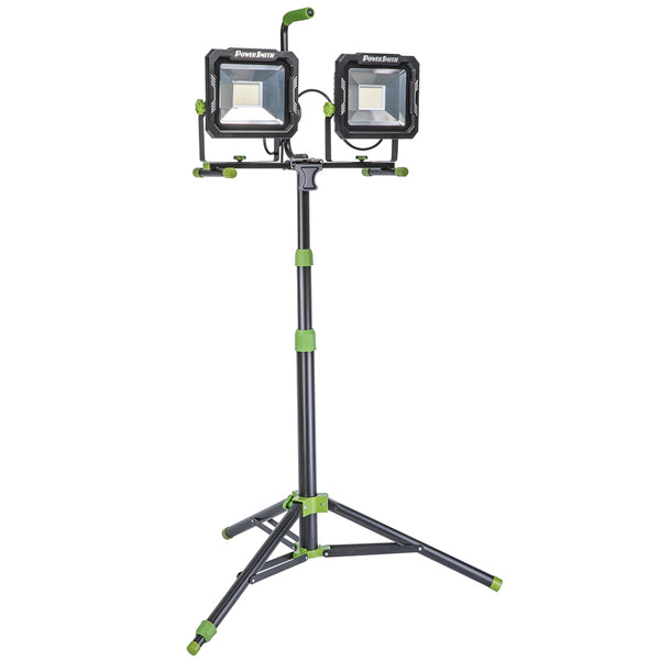 PowerSmith PWL2150TS Dual-Head LED Work Light with Tripod, 15000 Lumen