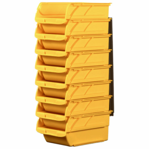 Stanley STST55208 Stackable Polypropylene Storage Bin, Yellow, #2, 8-Pack