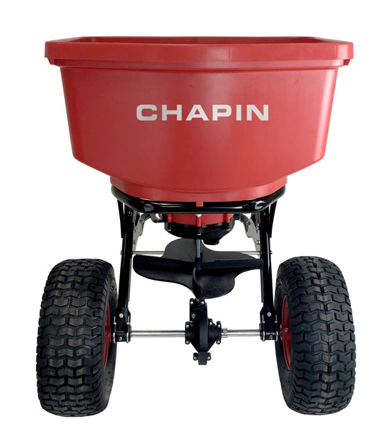 "Chapin 8620B Tow Behind Spreader with 14"" Pneumatic Tires, 150-Pound Capacity"