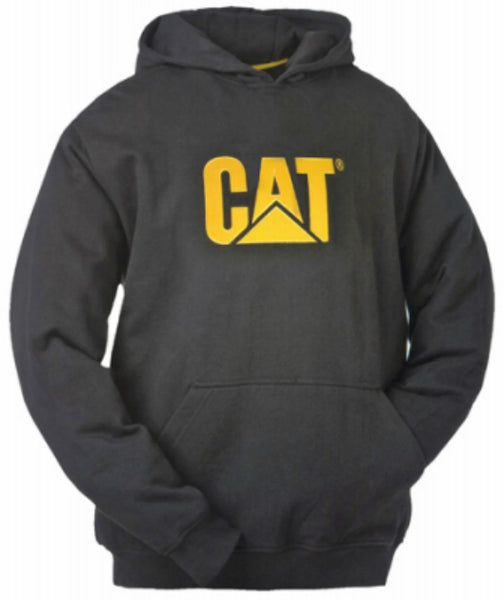 CAT W10646-016-L Trademark Hooded Sweatshirt, Black, Large
